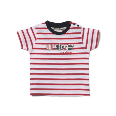 T-shirt Lafayette wit/rood